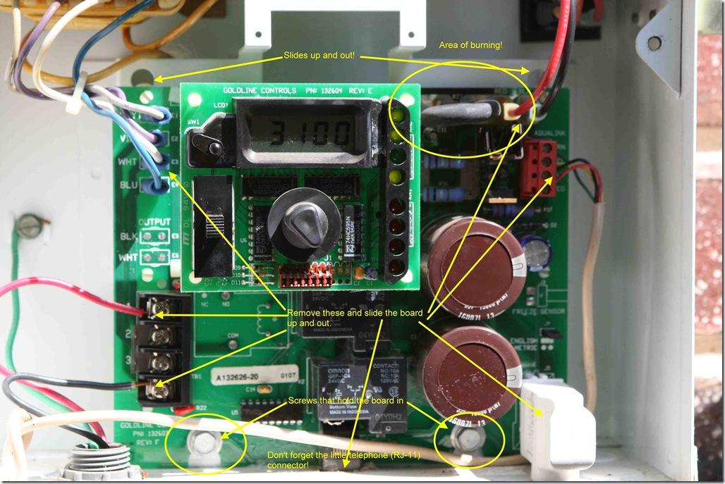 aquariteboardremoval_thumb?w=1028&h=687 repairing my aqua rite pcb (glx pcb rite) that was damaged by Goldline Pool Controls at edmiracle.co