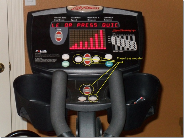 Life Fitness X5 X5i Elliptical Left Handle Top Cover 70406