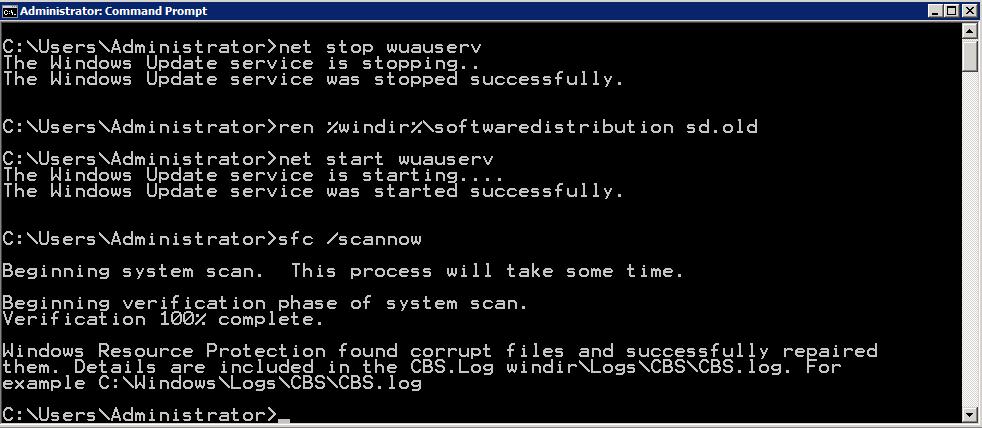 Troubleshooting 0x800f081f Error on Windows 2008 R2 SP1