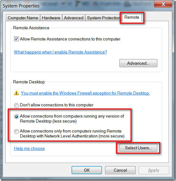 Setting Up RDP (Remote Desktop Connection) Through Verizon